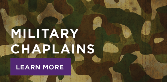 Image: camoflage material links to military chaplain program information
