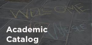 Academic Catalog quick link