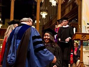 master of divinity student graduating