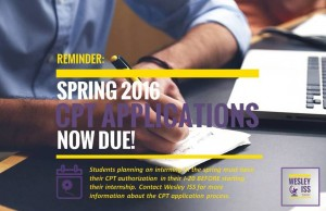 CPT Spring Applications Due Graphic