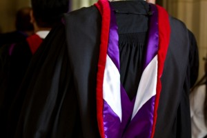 Image: Academic hood detail during Convocation