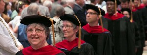 photo of Doctor of Ministry students processing at commencement