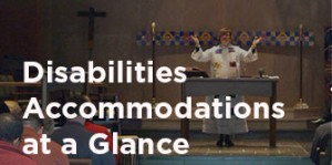 Disabilities accommodations at a glance