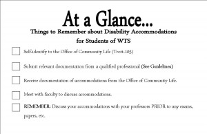 Disability accommodations at a gland