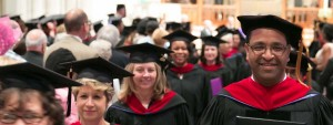 Image: group of graduates at convocation