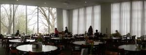 dining room at wesley Kresge hall