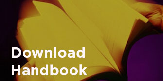 Image: picture of book with link to download handbook