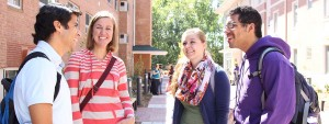 Master of Divinity students on campus