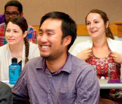Joe Jueng a Wesley student in class
