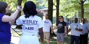 Wesley Seminary students talking and having fun