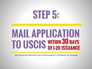 OPT Application Process, Step 5: Mail Application to USCIS within 30 Days of I-20 Issuance