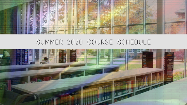 summer 2020 course schedule pic