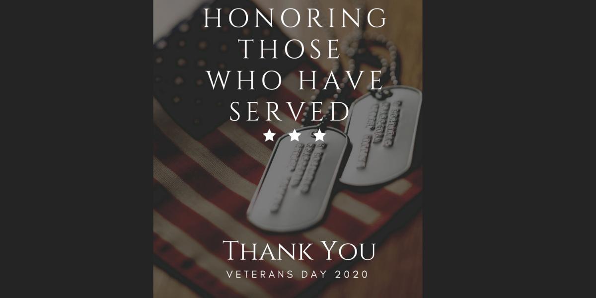 BANNER Veterans Day 2020