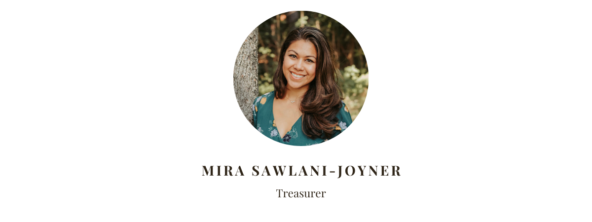 Treasurer Mira Sawlani Joyner