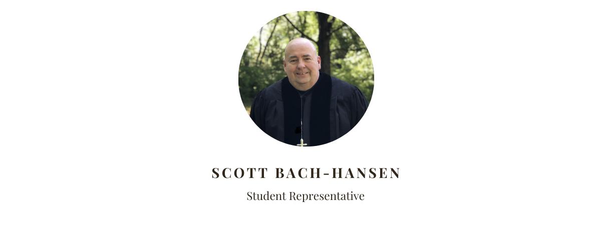 Student Representative Scott Bach-Hansen