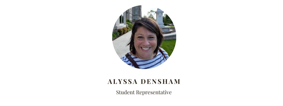 Student Representative Alyssa Densham