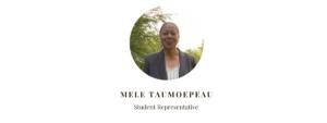Student Representative Mele Taumoepeau