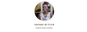 Student Representative Sherri Butler