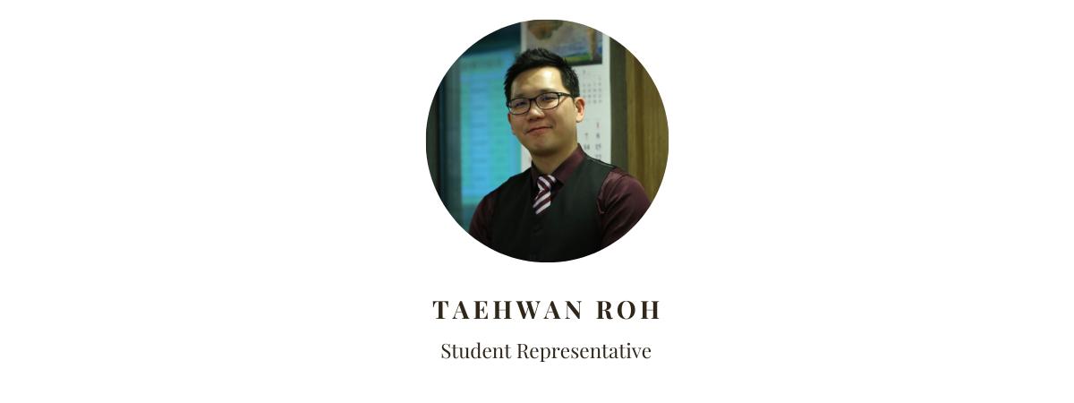 Student Representative Taehwan Roh