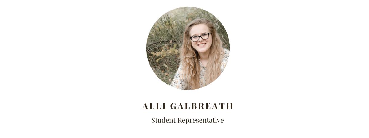 Student Rep Alli Galbreath