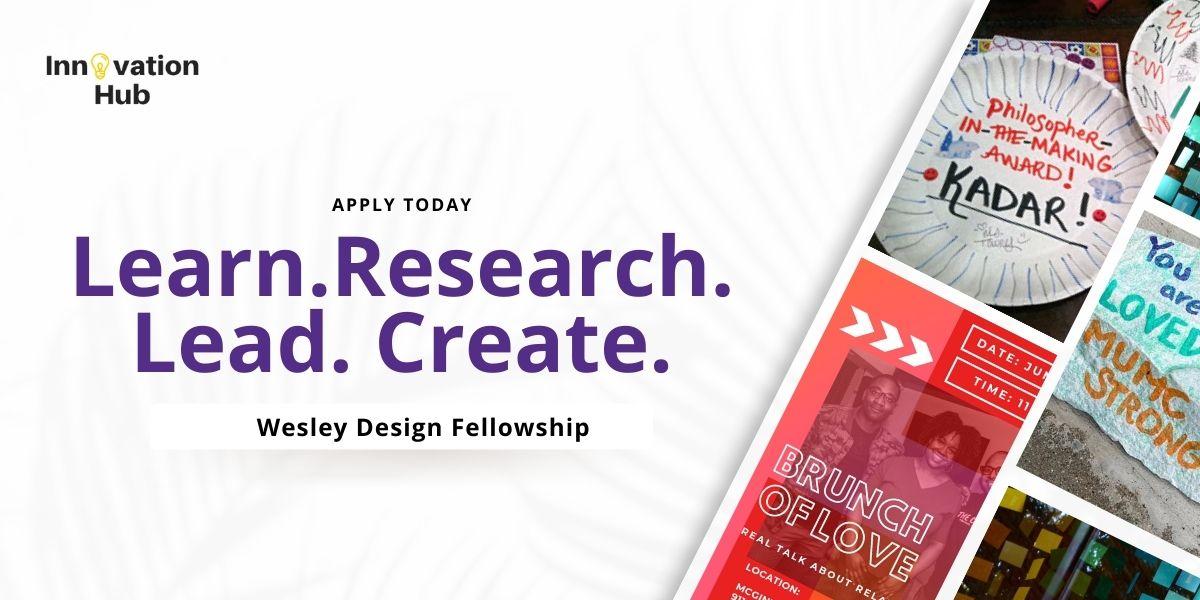 Learn. Research. Lead. Create. Purple Font