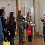 Chip Aldridge leading a tour of prospective students at Wesley Seminary in Washington, DC